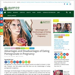 Benefits of eating pomegranate during pregnancy