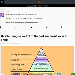 The hierarchy of disagreement: The best and worst argument techniques