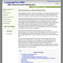 Developing a Disambiguator - LanguageTool Wiki