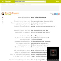 BEFORE WE DISAPPEAR (TRADUÇÃO) - Chris Cornell - LETRAS.MUS.BR