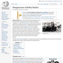 Disappearance of Bobby Dunbar