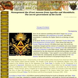 Management the (Free) masons from Agartha and Shambhala. The secret government of the Earth - Earth before the Flood: Disappeared Continents and Civilizations