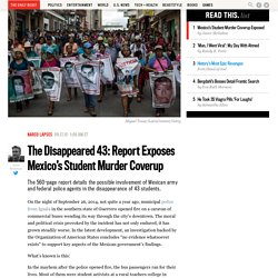 The Disappeared 43: Report Exposes Mexico's Student Murder Cover-Up