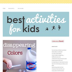Disappearing Color! | Best Activities for Kids