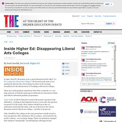 THE: Disappearing Liberal Arts Colleges