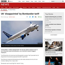 UK 'disappointed' by Bombardier tax ruling