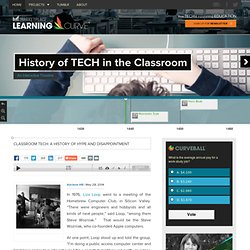 Classroom tech: A history of hype and disappointment