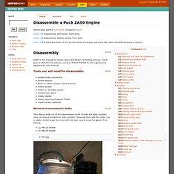 Disassemble a Puch ZA50 Engine - MopedWiki