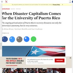 When Disaster Capitalism Comes for the University of Puerto Rico
