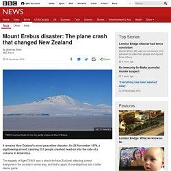 Mount Erebus disaster: The plane crash that changed New Zealand