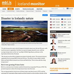 Disaster in Icelandic nature