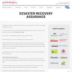What Does SAP Disaster Recovery Assurance Consists Of?