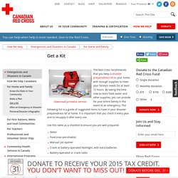 Get a Disaster Preparedness Kit from the Canadian Red Cross