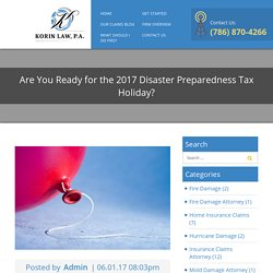 Are You Ready for the 2017 Disaster Preparedness Tax Holiday?
