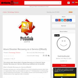 Azure Disaster Recovery as a Service (DRaaS) by LiveRoute