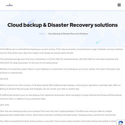Cloud backup & Disaster Recovery Services in Dubai