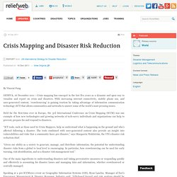 Crisis Mapping and Disaster Risk Reduction