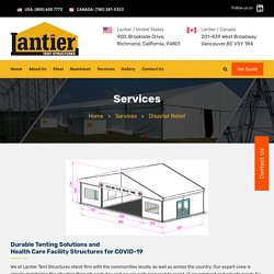 Disaster Relief Services by light weight Custom Tents
