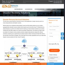 Disaster Recovery Service Providers India