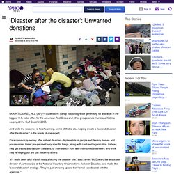 'Disaster after the disaster'