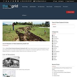List of disasters in New Zealand by death toll - The Grid - FInd Anything in New Zealand