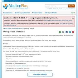 Discapacidad intelectual: MedlinePlus enciclopedia médica