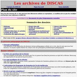 DISCAS: plan du site