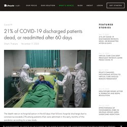 21% of COVID-19 discharged patients dead, or readmitted after 60 days — Lifecycle Health