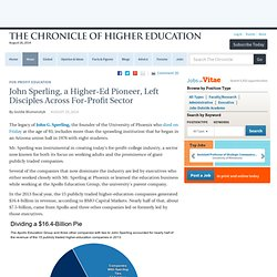 John Sperling, a Higher-Ed Pioneer, Left Disciples Across For-Profit Sector