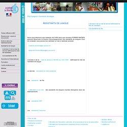 Site disciplinaire Espagnol: Assistants de langue