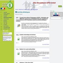[Site Disciplinaire EPS Créteil] Activités Athlétiques