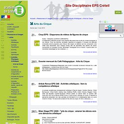 [Site Disciplinaire EPS Créteil] Arts du Cirque