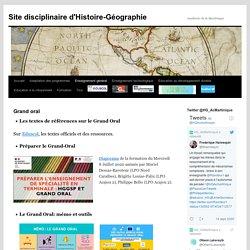Site disciplinaire d'Histoire-Géographie