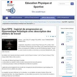 Gym'EPS : logiciel de progression en Gymnastique Artistique avec description des ateliers de travail