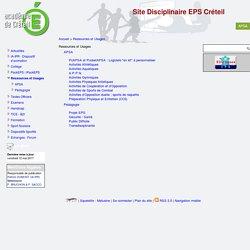 [Site Disciplinaire EPS Créteil] Ressources et Usages