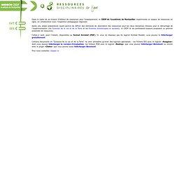 Ressources disciplinaires en ligne - CRDP académie de Montpellie