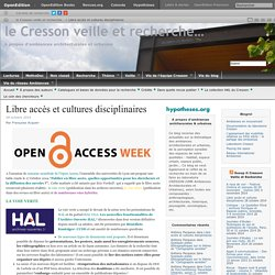 Libre accès et cultures disciplinaires