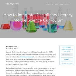 How to Integrate Disciplinary Literacy in the Science Curriculum