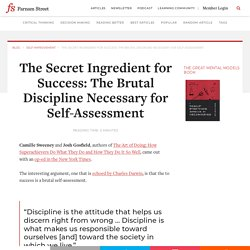 The Discipline Necessary for Self-Assessment is the Key to Success