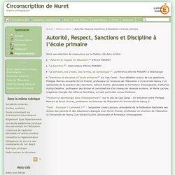 Autorité, Respect, Sanctions et Discipline à l'école primaire - Circonscription de Muret