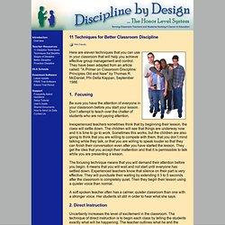 Discipline by Design