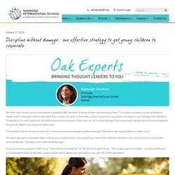 Discipline without damage : one effective strategy to get young children to cooperate - Oakridge