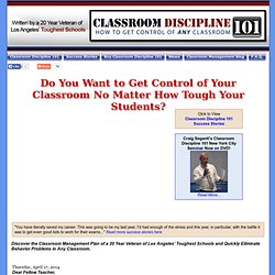 Classroom Discipline 101: Effective Classroom Management