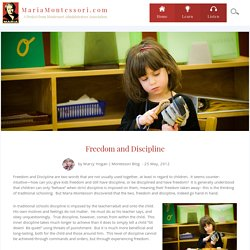 Freedom and Discipline - MariaMontessori.com