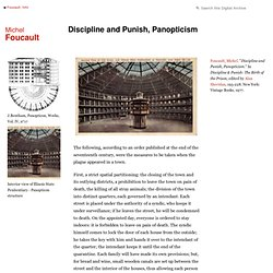Discipline and Punish, Panopticism