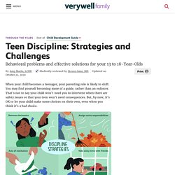 Discipline for Teens: Strategies and Challenges