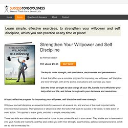 Self Discipline and Willpower Training Program