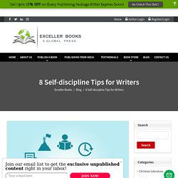8 Self-discipline Tips for Writers