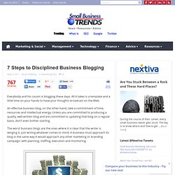 7 Steps to Disciplined Business Blogging