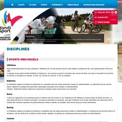 Disciplines - Handisport Languedoc-Roussillon